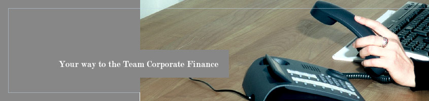 Image: Your way to the Team Corporate Finance